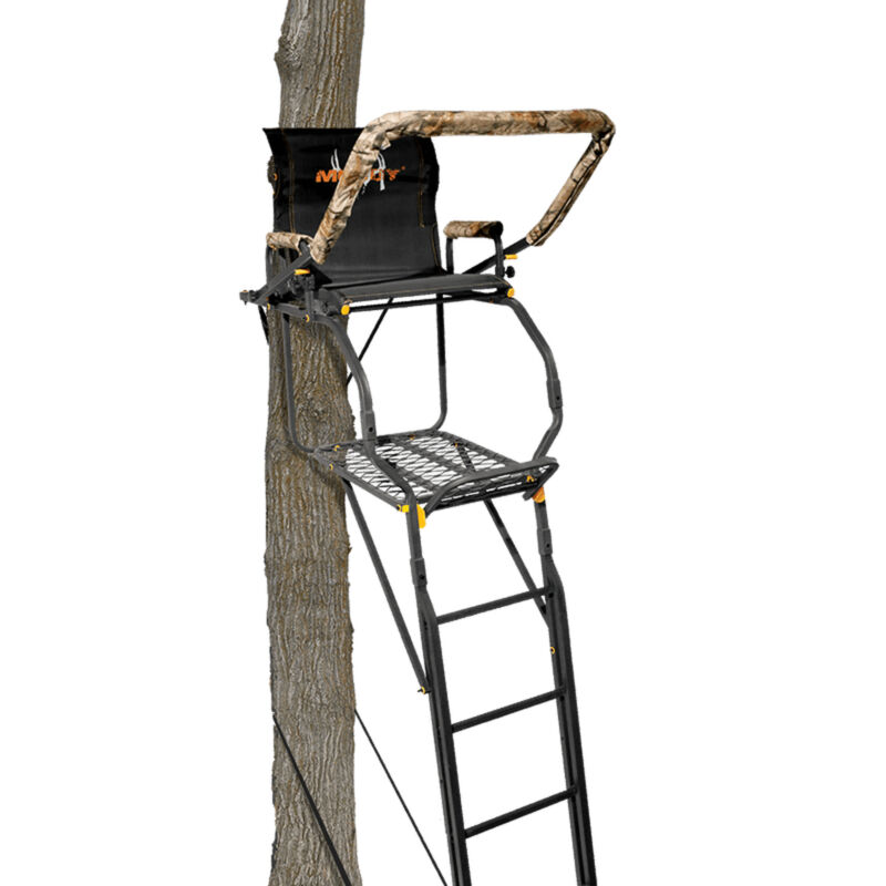 Muddy The Skybox Deluxe 20 Foot 1 Person Hunting Deer Ladder Tree Stand, Black