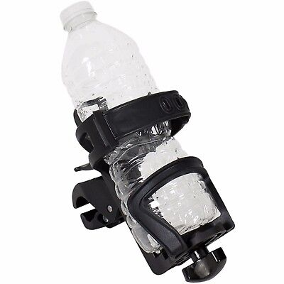 (Adjustable Water Bottle Holder Motorcycle Cup Bicycle Drink Universal Fit Harley)