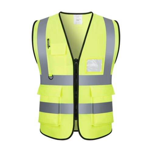 Safety Vest with High Visibility Reflective Stripes W/Pockets 3 Colors