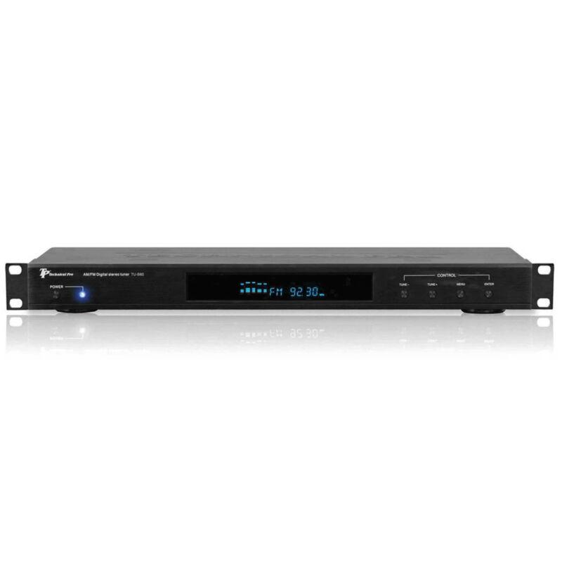 TPro Professional AM/FM Digital Tuner w 60 Stations Storage, LED, Remote Control