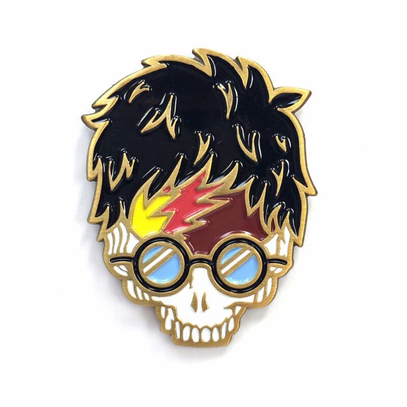 Harry Potter Jerry Garcia Grateful Dead Stealie Skull Heady Enamel Festival Pin