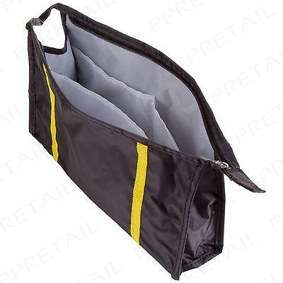 """LARGE 12"""" MENS TRAVEL TOILETRY WASH BAG Water Resistant Holder Case Black/Blue"""