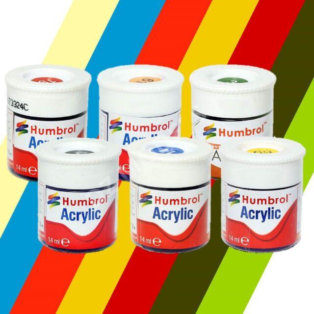 Humbrol Acrylic Paint 12ml - Choose Colours and Quantity - HU001 - HU253