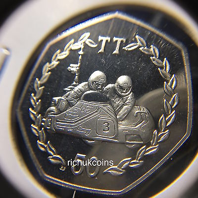 1984 T.T. Commemorative Diamond Finish 50p Coin