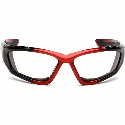 Pyramex Accurist Safety Glasses With Clear Anti-fog Lens Blackred Frame