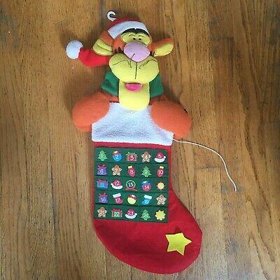 Disney Winnie the Pooh Tigger Countdown Advent Calendar Christmas Stocking As Is