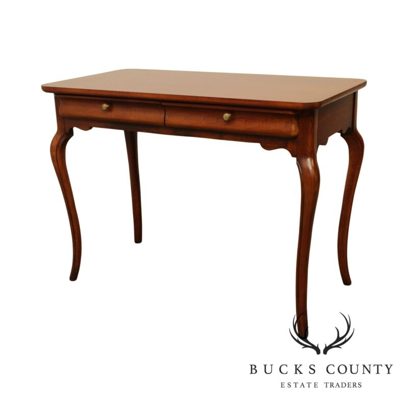 French Cherry 2 Drawer 40 inch Writing Desk
