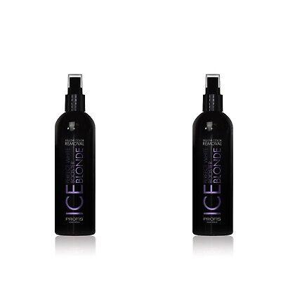2x 250 ml Anti-Gelbstich Silber Haarspray Spray Haarmaske Shampoo blond Haar