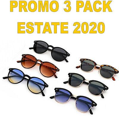tris Occhiali da sole vintage a specchio uomo/donna vintage cool ESTATE 2020