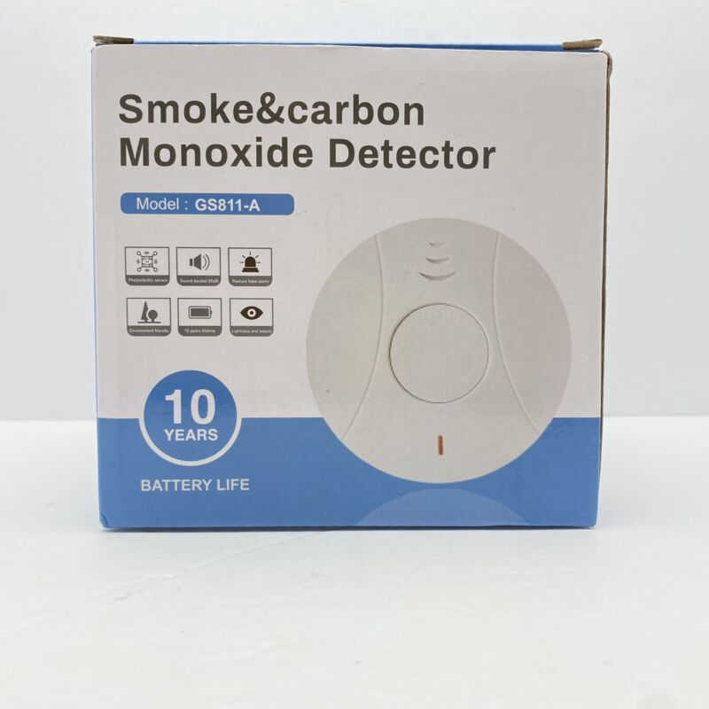2 Pack Combination Smoke & Carbon Monoxide Detector-Battery Operated-NOB-