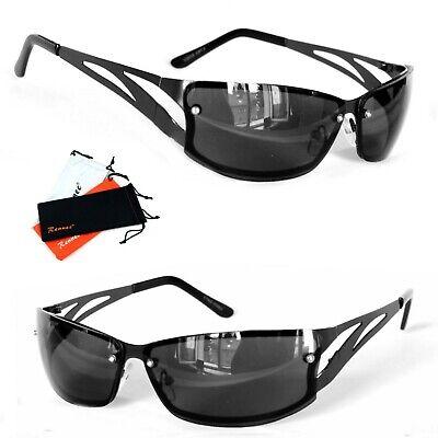 Sportliche Biker Sonnenbrille Herren Sport UV 400 schwarz leicht Verspiegelt 825