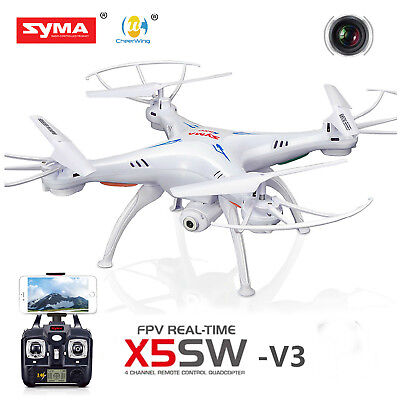 Syma X5SW-V3 Wifi FPV Explorers 2.4G 4CH RC Quadcopter Drone HD Camera UFO White