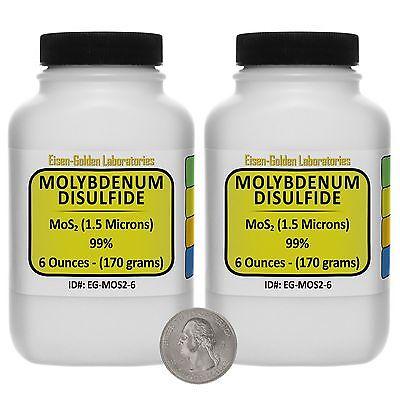 Molybdenum Disulfide Mos2 99 Ar Grade Powder 12 Oz In Two Plastic Bottles Usa
