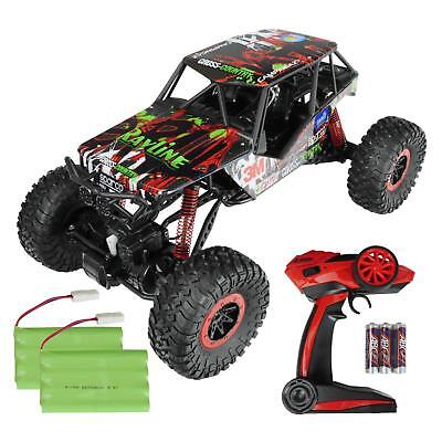 RAYLINE RC Rock Crawler 1:10 2x Akku 4WD 2.4G Monstertruck Offroad Elektro Auto