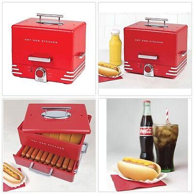 Retro Diner Style Large Electric Hot Dog Bun Food Steamer Cooker Kid Nostalgi