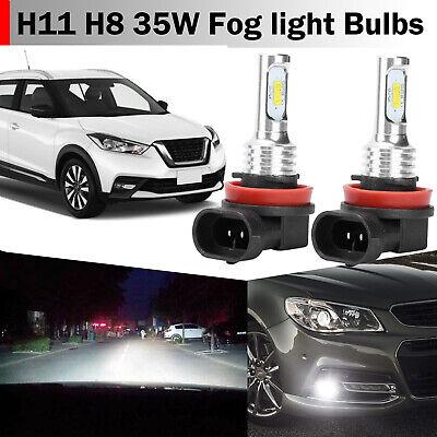 2x H11 H8 H16 LED Fog Light Bulbs Conversion Kit OEM Upgrade Lamp 35W 6000K