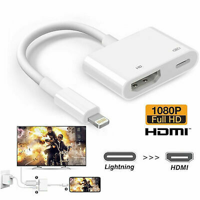 1080P Lightning to HDMI Digital TV AV Adapter Cable For iPhone 11 XS 8 7 6 Plus