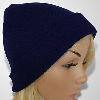 Skimütze Beanie Unisex Strickmütze Damen Wintermütze Herren Wollmütze Blau