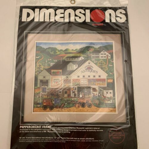 Dimensions Crewel Embroidery Kit Peppercricket Farms Charles Wysocki 1986
