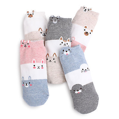 Free shipping (5 Pairs) Women Animal Ankle Socks Logo Fashion Craft AO