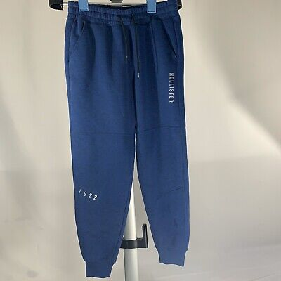 HOLLISTER MENS SKINNY JOGGER SWEAT PANTS BLUE MEDIUM M PANT