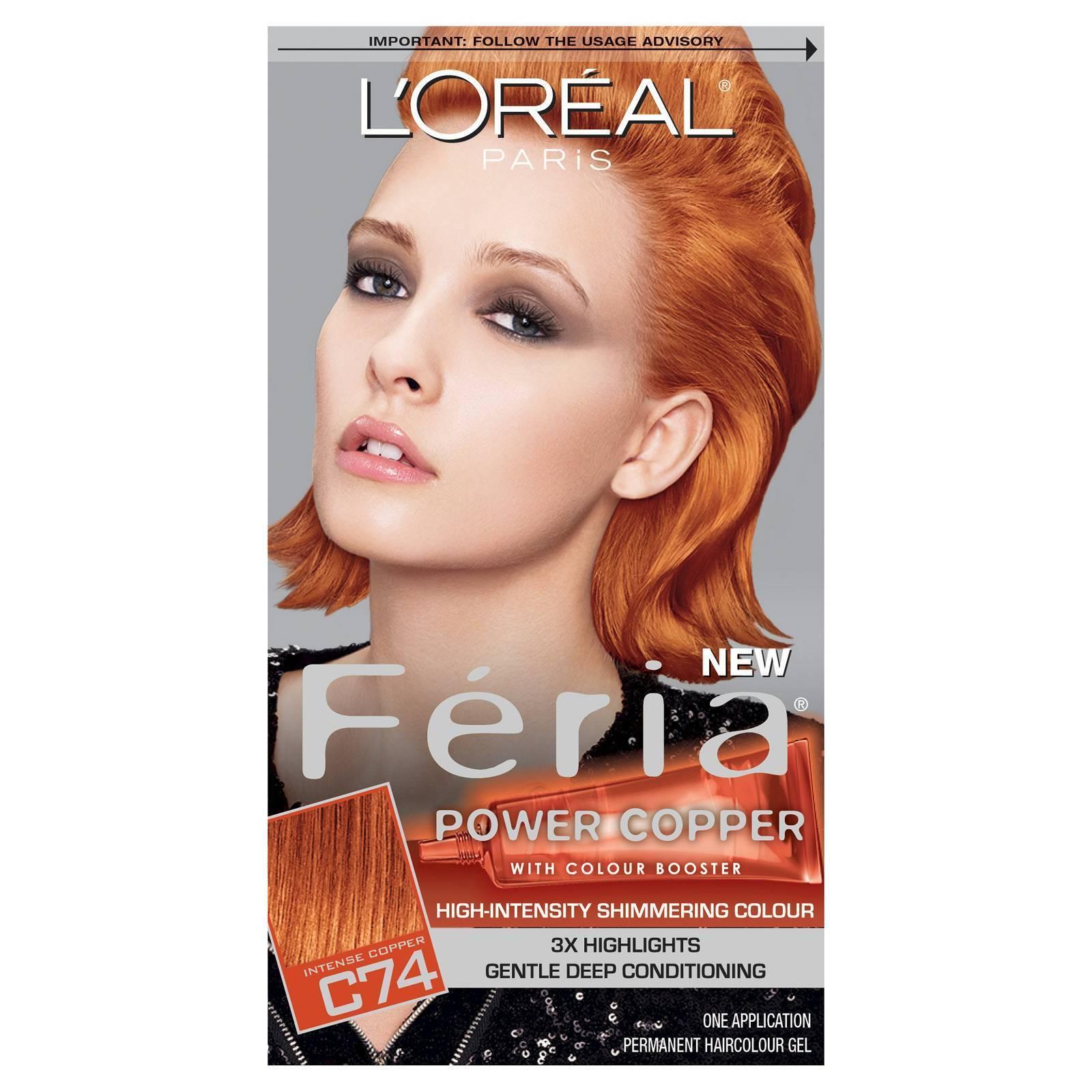 Loral Paris Feria Permanent Hair Color C74 Intense Copper Ebay
