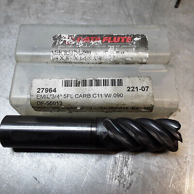 Used End Mills Data Flute Mhcr50750-090 34 Carbide