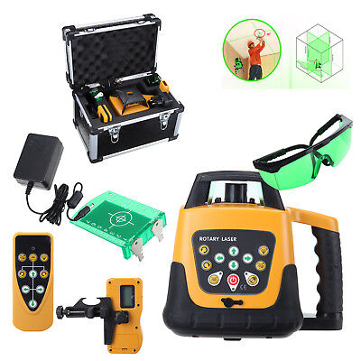 Self-leveling 360 Rotary Green Beam Laser Level 500m Range W Case 500m