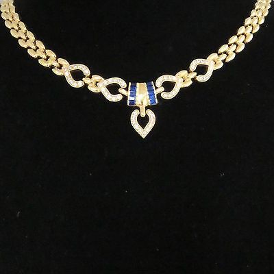 NYJEWEL 18K Gold Brand New Beautiful Crystal Spinel Necklace Great Gift