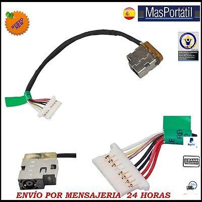 CONECTOR ALIMENTACION+CABLE / JACK DC HP PAVILION 15-AC000 799736-F57 PJ220