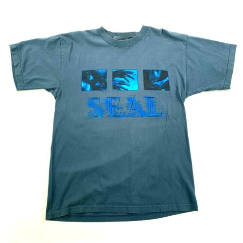 Seal T-Shirt 1999 Tour RARE True VTG Large R&B Soul Pop Giant Tag Human Being