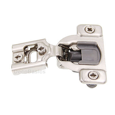 """20 Pack (10 Pairs) 1/2"""" OVERLAY SOFT CLOSE Face Frame Compact Cabinet Hinge"""