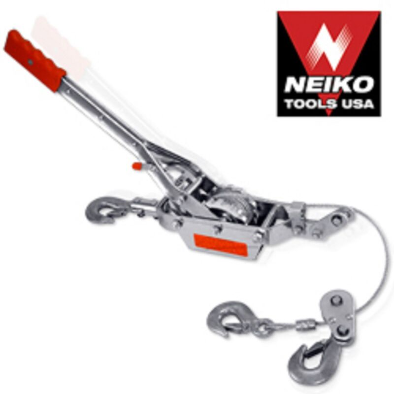 2 TON 3 HOOK COME A LONG WINCH HOIST HAND CABLE PULLER