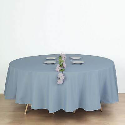 "10 DUSTY BLUE 90"" ROUND POLYESTER TABLECLOTHS Wholesale Wedding Party Supplies"