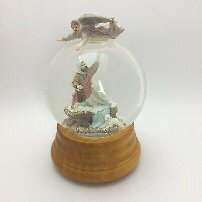 San Francisco Music Box Company Snow Globe Nativity Hark The Herald Angels Sing