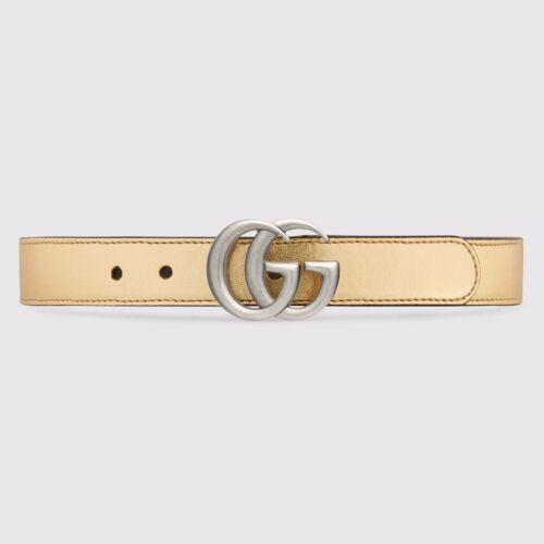 NWT NEW Gucci girls boys GG web stripe belt green , blue or gold S M L 432707