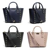 Michael Kors Sandrine Stud Small Crossbody Saffiano Leather Handbag