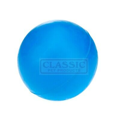 Blue Large Solid Strong Tough Hard Rubber Dog Treat Ball Fetch Toys
