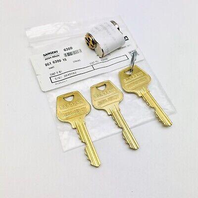 Sargent Assa Abloy Dg1 6300 15 Lock Cylinder Lock 3 Keyset Keyway