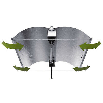 Hydroponics Adjustable X-LARGE FlexWing Double Ended DE Reflector