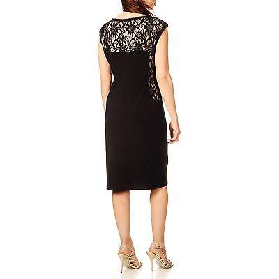 R m richards navy taupe sequin embellished jersey lace for Cocktail 102