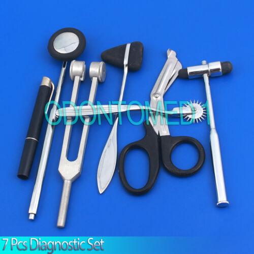 7 Pcs Neurological Percussion Reflex Taylor Buck Hammer Pinwheel Diagnos Ds-1174