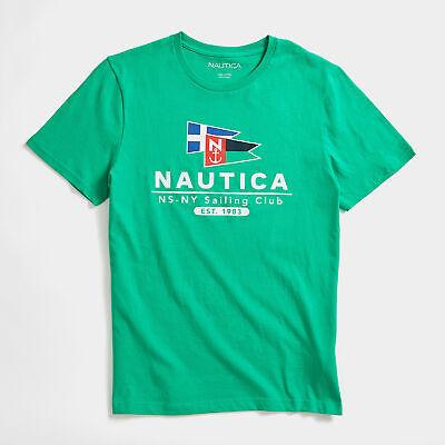Nautica Mens Flag Sailing Club Graphic T-Shirt