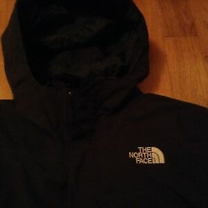 North face black three in one jacket
