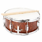 Marching Snare Drum Dark Wood Shell Percussion Poplar 14x5.5 Inch