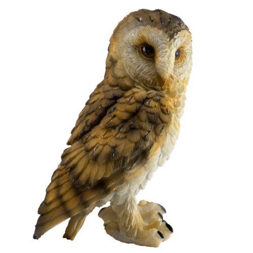 "Brown Barn Owl Figurine 5"" High Resin Statue New In Box!"