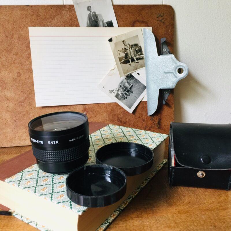 Vintage Telesor Semi Fish-Eye  0.42X Lens and Original Case