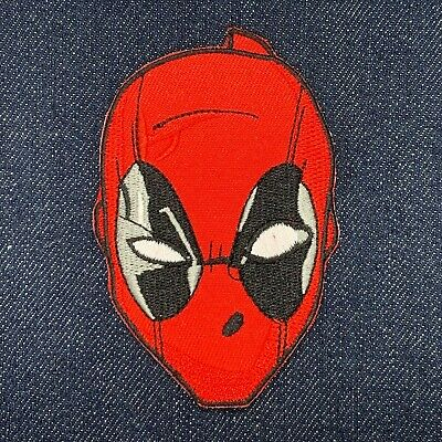 Deadpool Face Mask Round 1 5//8 Inch Round Iron On Patch