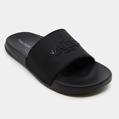 Nautica Mens Maritime Logo Slide Sandals