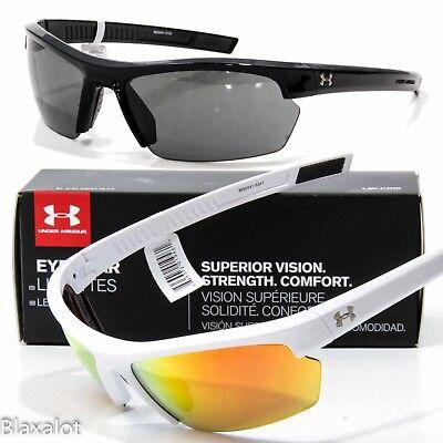 Neu Under Armour Stride XL Sonnenbrille Ua Wähle Schwarz/Grau oder Weiß/Orange